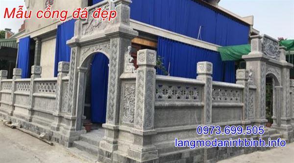 Báo giá cổng đá chính xác tại Ninh Bình;