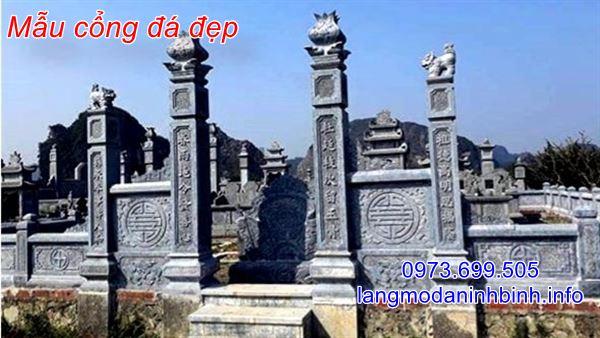 Mẫu cổng đá khu lăng mộ đẹp chuẩn phong thủy nhất hiện nay;