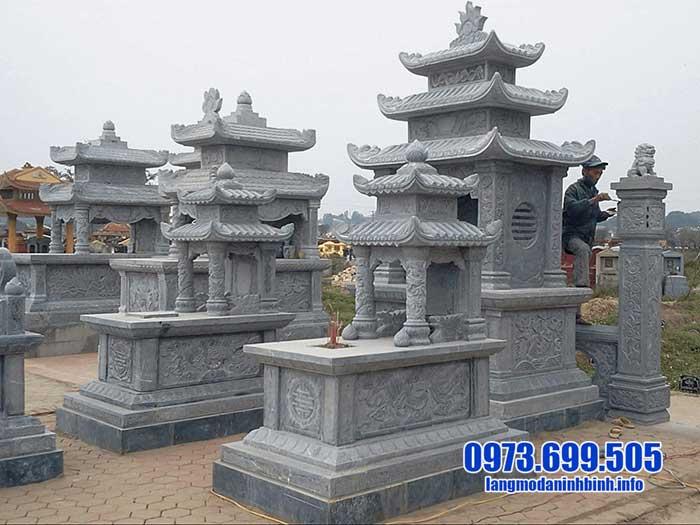 Kiểu mộ xây bằng đá đẹp
