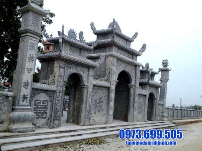 5 mẫu cổng tam quan đá của địa chỉ xây cổng tam quan bằng đá đẹp