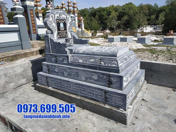 Xây mộ bành đá đẹp