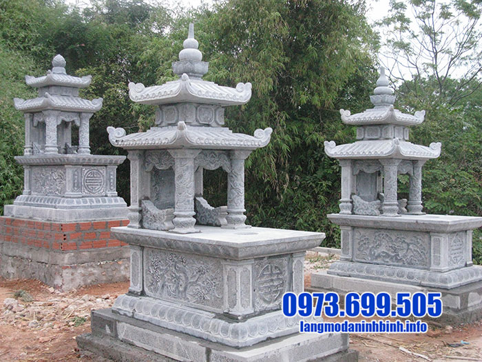 Xây mộ bằng đá xanh đẹp
