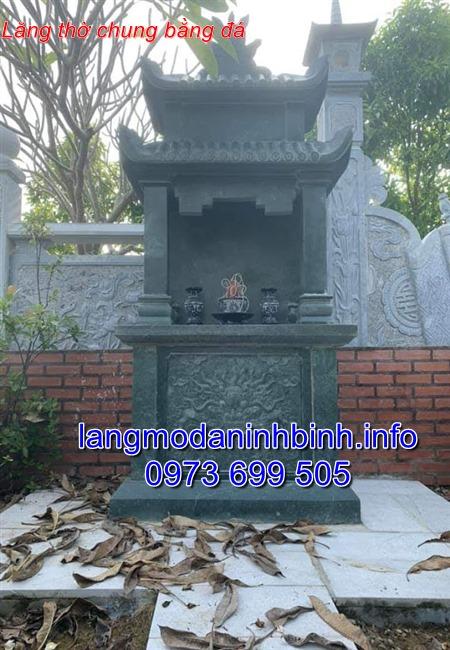 Mẫu lăng thờ bằng đá xanh rêu - Báo giá lăng thờ đá chính xác tại Ninh Bình