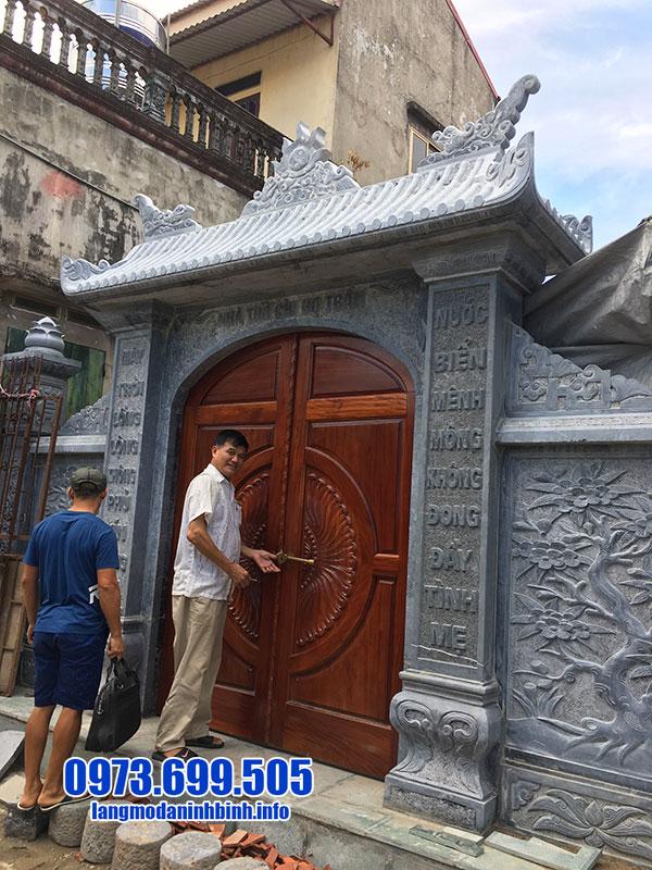 cổng đá nhà thờ họ từ đường đẹp nhất