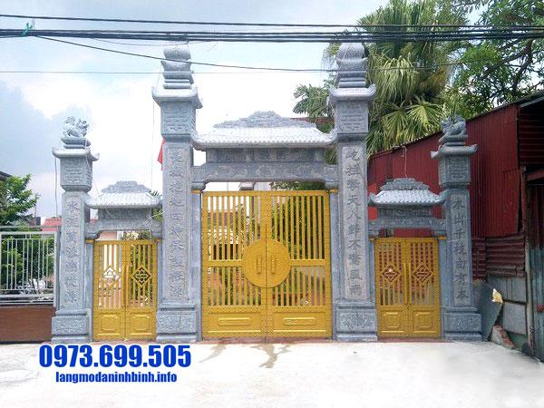 cổng đá nhà thờ tộc
