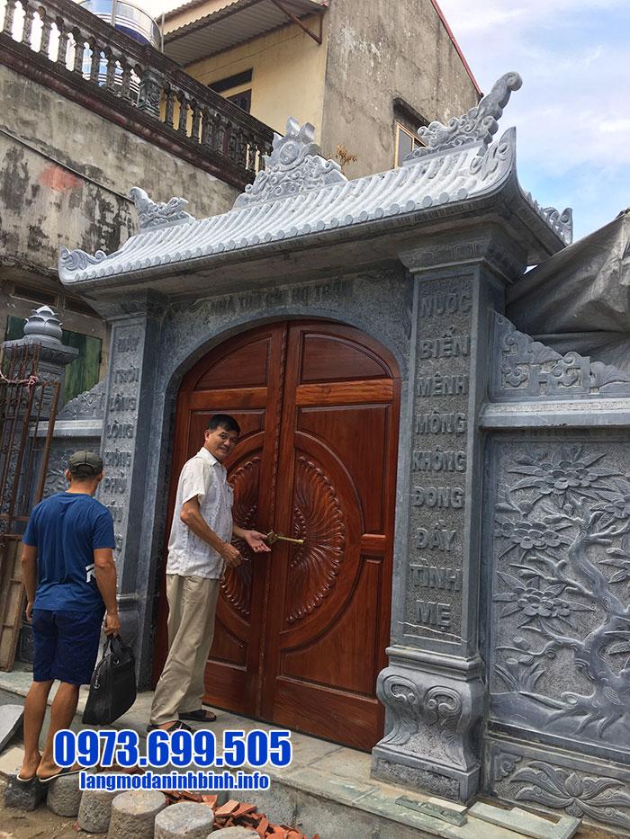 cổng từ đường đá đẹp nhất