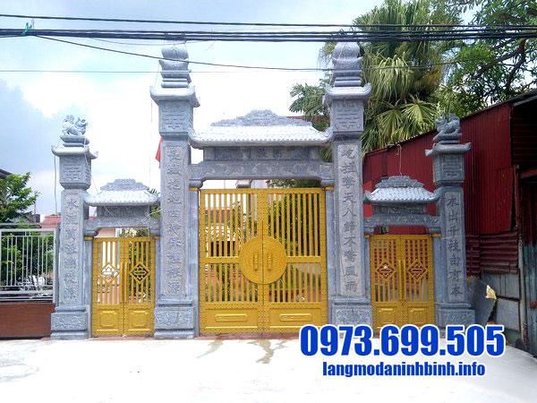 hình ảnh cổng nhà thờ họ bằng đá đẹp