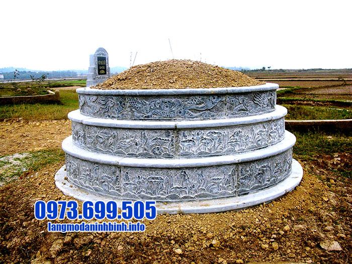 mẫu mộ tròn xây bằng đá đẹp