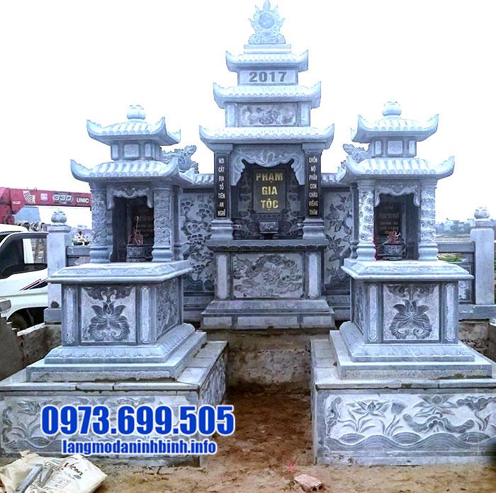 mẫu mộ xây hai mái bằng đá