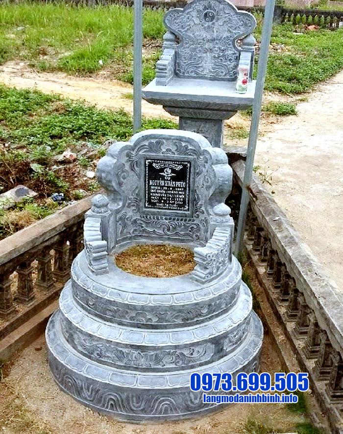 mộ tròn bằng đá xanh chuẩn phong thủy