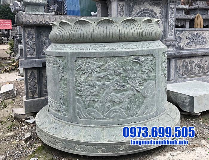 mộ tròn bằng đá xanh rêu đẹp