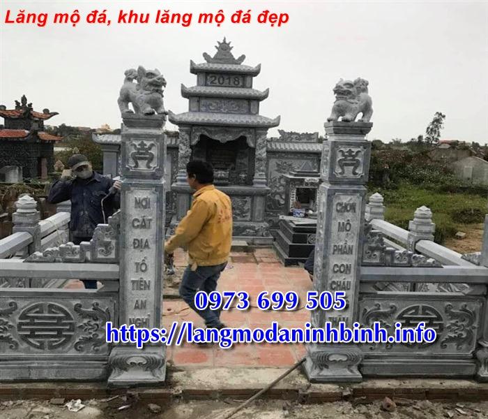 Địa chỉ bán lăng mộ đá - khu lăng mộ bằng đá đẹp tại Ninh Bình