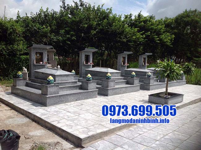 các mẫu mộ đá granite