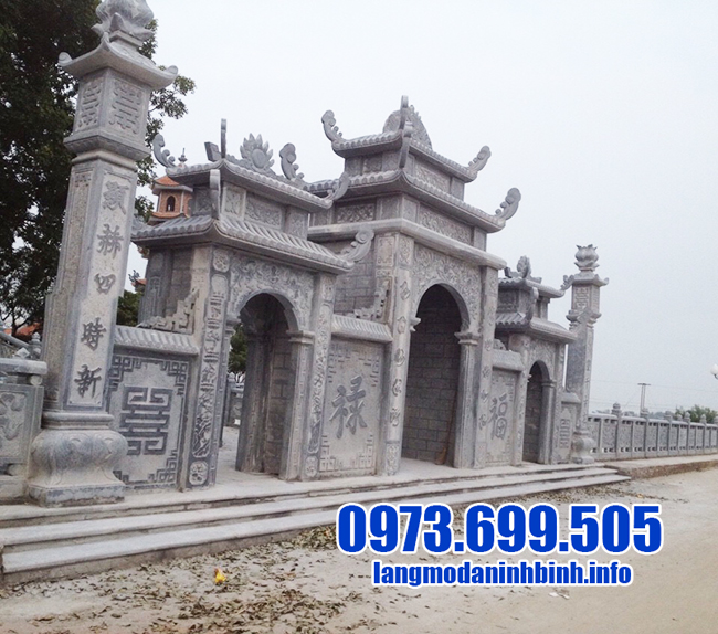 cổng chùa bằng đá xanh