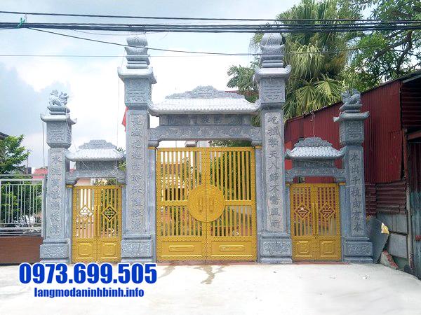 cổng nhà thờ họ bằng đá đẹp