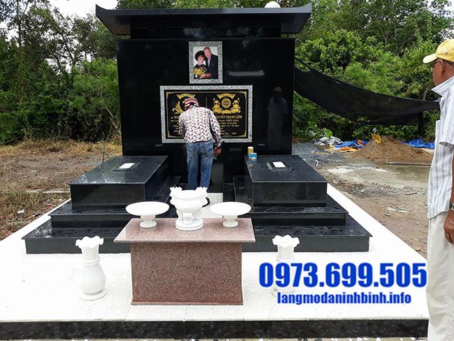 hình ảnh mộ đá granite