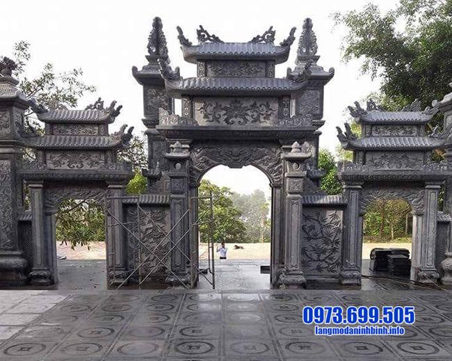 mẫu cổng tam quan đá