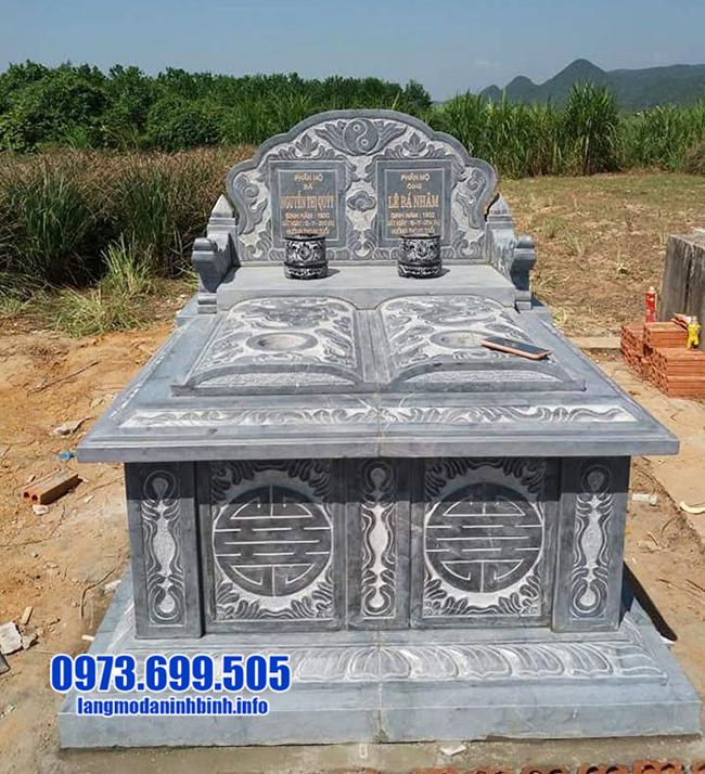 mẫu mộ đá đôi đẹp nhát tại Ninh Bình