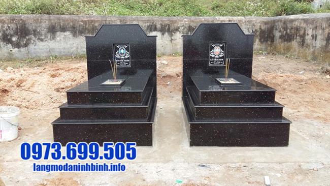 mẫu mộ đá granite màu đen