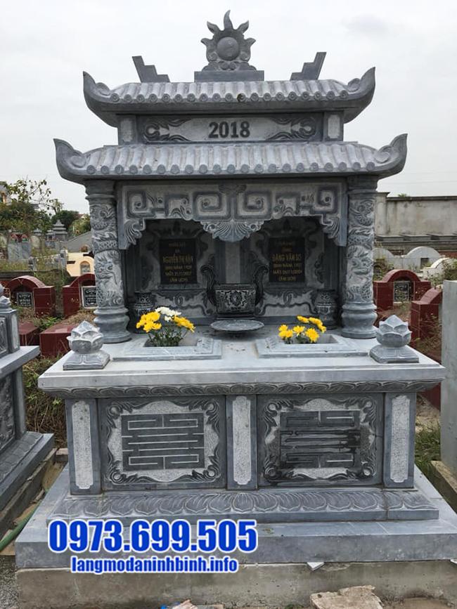 mẫu mộ đôi bằng đá ninh bình