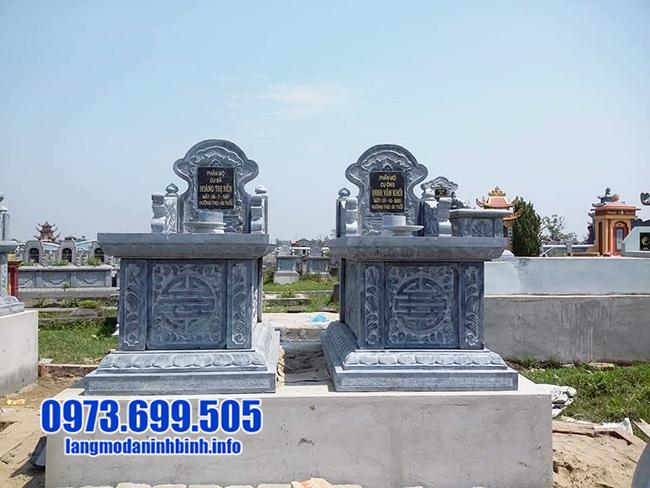 mẫu mộ đôi bằng đá