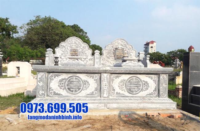 mộ đá đôi đẹp nhất kích thước chuẩn phong thủy