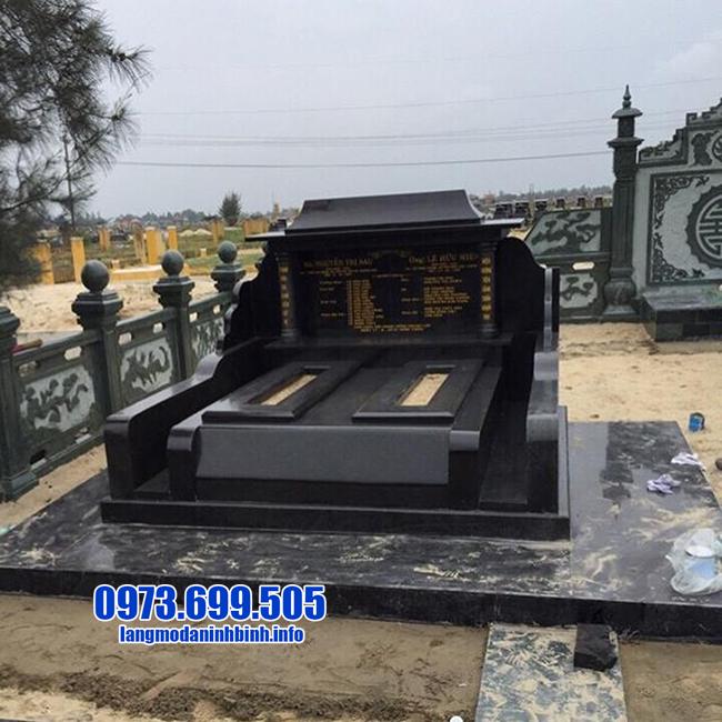 mộ granite nguyên khối đẹp