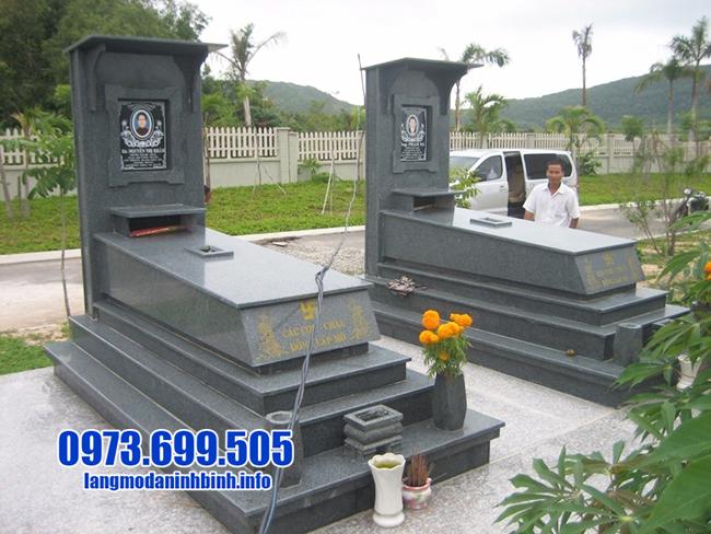 mộ hoa cương nguyên khối đẹp