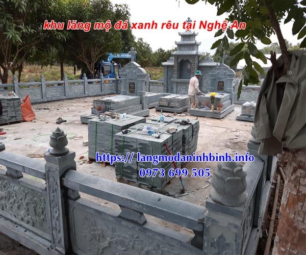 Kích thước khu lăng mộ công giáo bằng đá xanh rêu tai Nghệ An