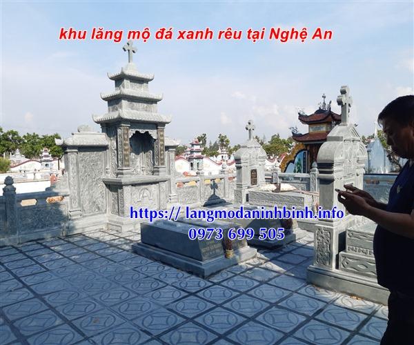 Lăng thờ công giáo bằng đá xanh rêu tại Nghệ An - Báo giá khu lăng mộ đá công giáo