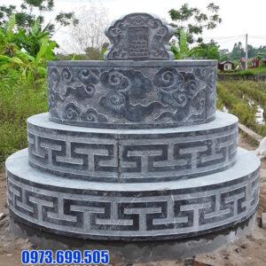 Mẫu mộ đá tròn đẹp
