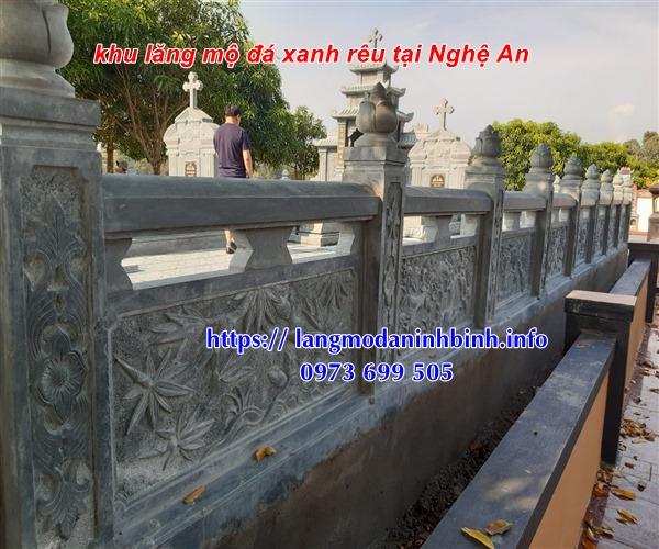 Lan can đá khu lăng mộ tại Nghệ An