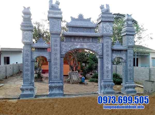 mẫu cổng đá nhà thờ tộc đẹp