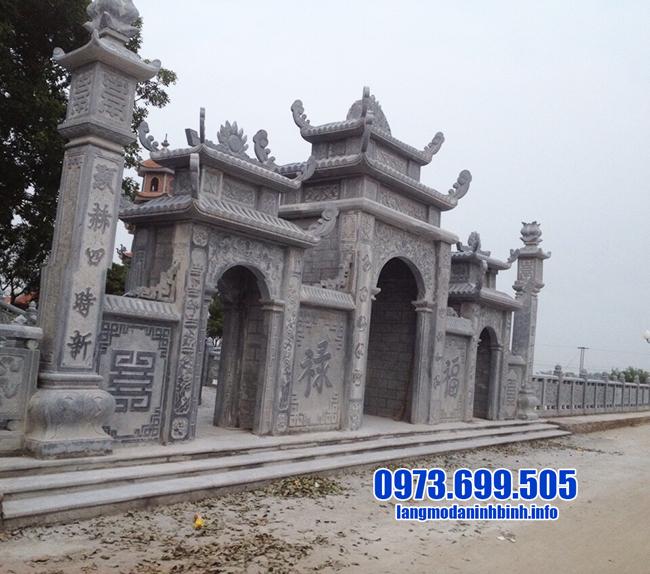mẫu cổng chùa bằng đá đẹp nhất