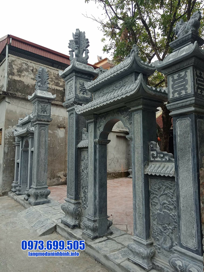 mẫu cổng chùa bằng đá xanh đẹp