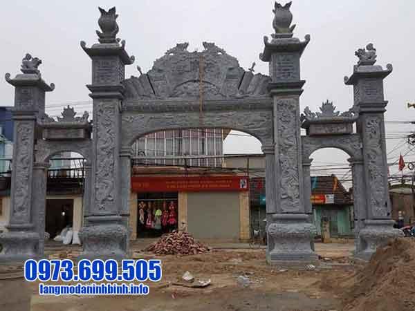mẫu cổng nhà thờ tộc đẹp bằng đá