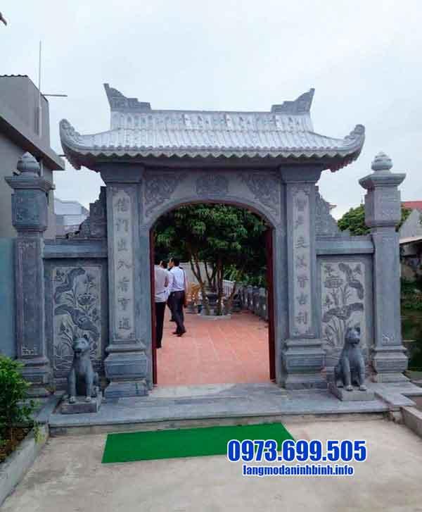 mẫu cổng nhà thờ tộc bằng đá xanh