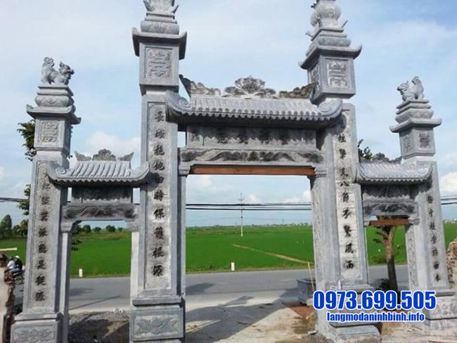 mẫu cổng tam quan chùa đẹp