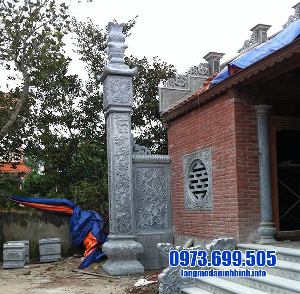 mẫu cột đồng trụ bằng đá xanh đẹp nhất
