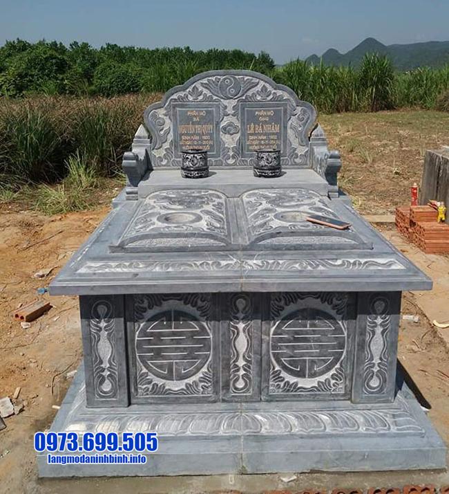mẫu mộ đá đôi đẹp nhất