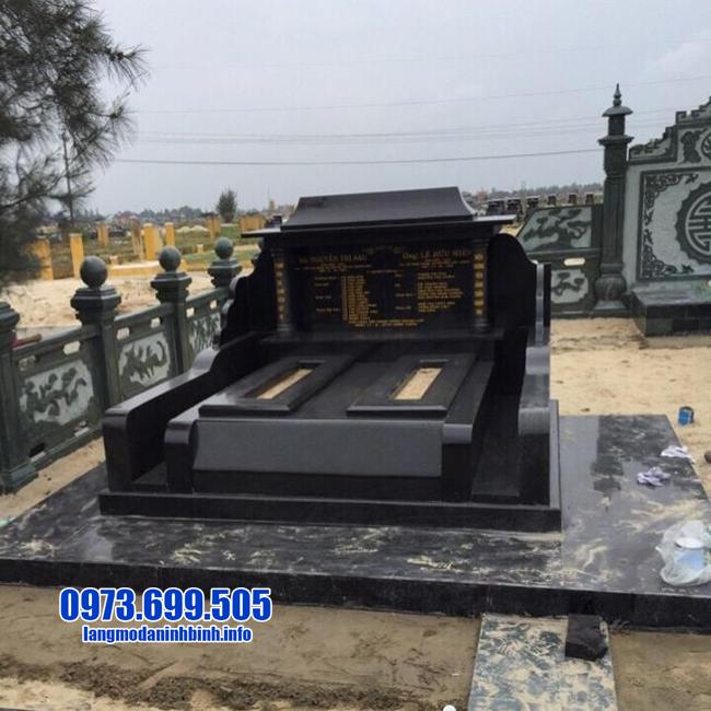 mẫu mộ đá granite cho hai người