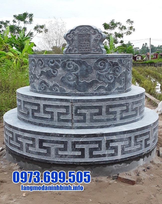 mẫu mộ tròn đá xanh ninh bình