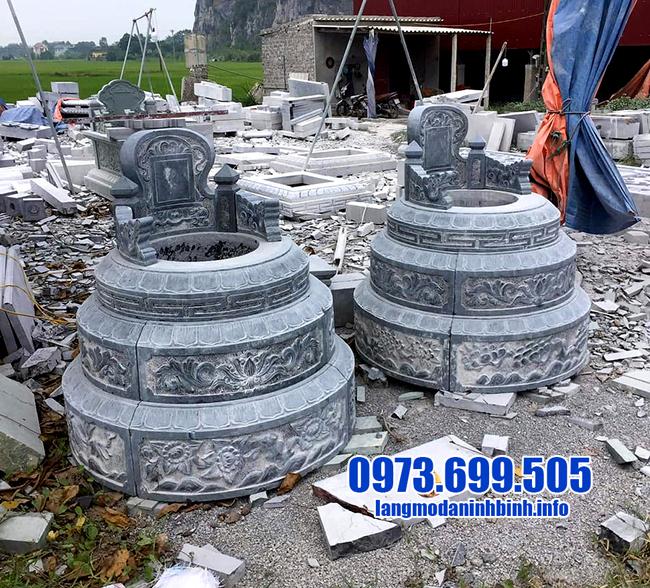 mẫu mộ tròn bằng đá thanh hóa