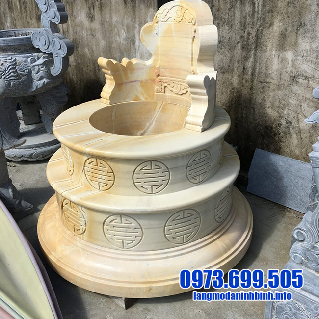 mẫu mộ tròn bằng đá vàng đẹp nhất