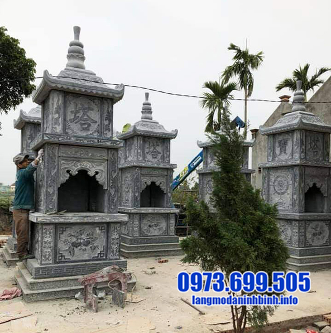 mộ tháp đá đẹp