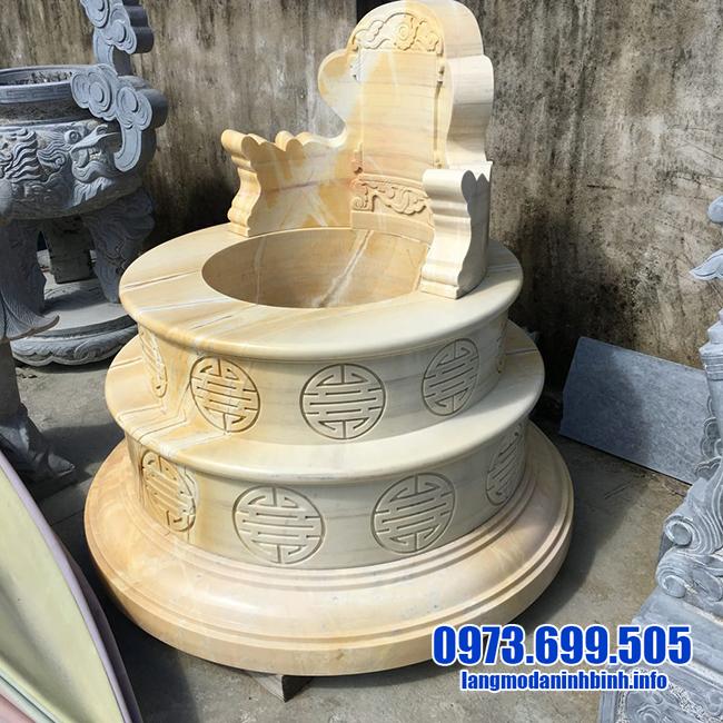 mộ tròn bằng đá vàng đẹp nhất