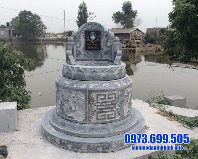 mộ tròn bằng đá xanh đẹp nhất