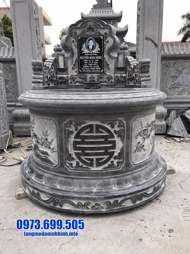 mộ tròn bằng đá xanh đen đẹp nhất