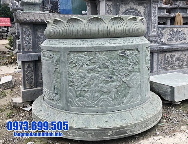 mộ tròn bằng đá xanh rêu đẹp nhất