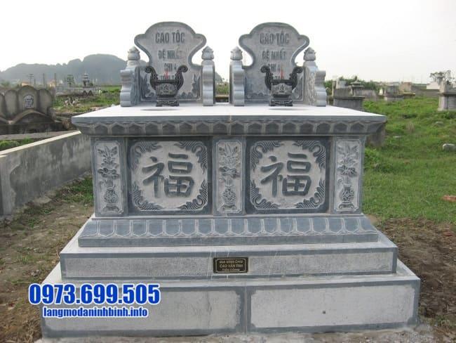 Mẫu mộ đôi đá ninh bình đẹp